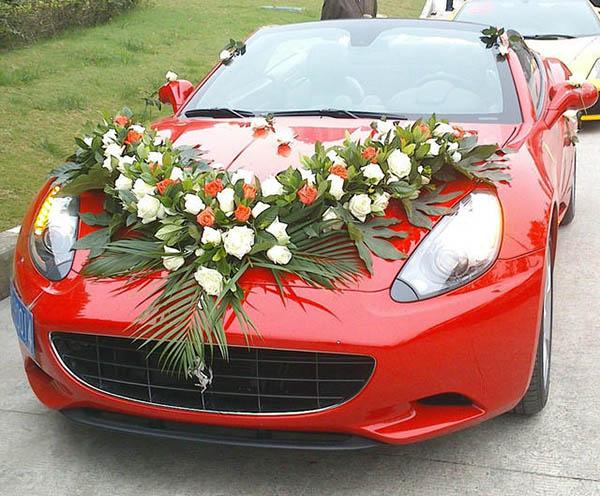法拉利跑车婚礼花车